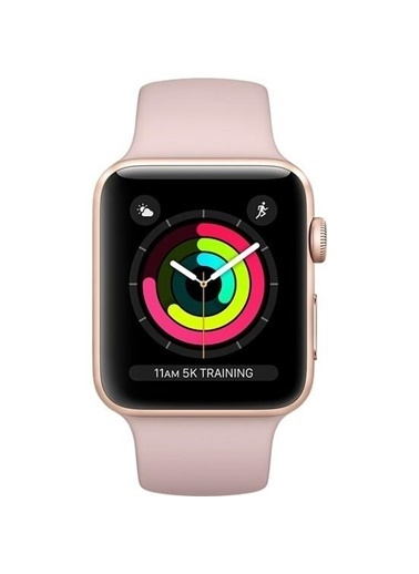 Watch Series 3 GPS 42 mm Altın Rengi Alüminyum Kasa Kum Pembesi Spor Kordon-Apple